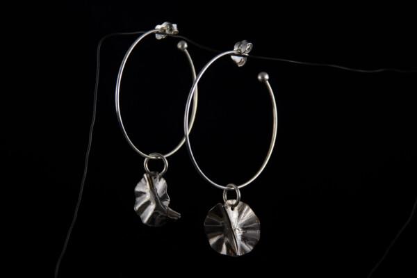 Silver earrings Foldform